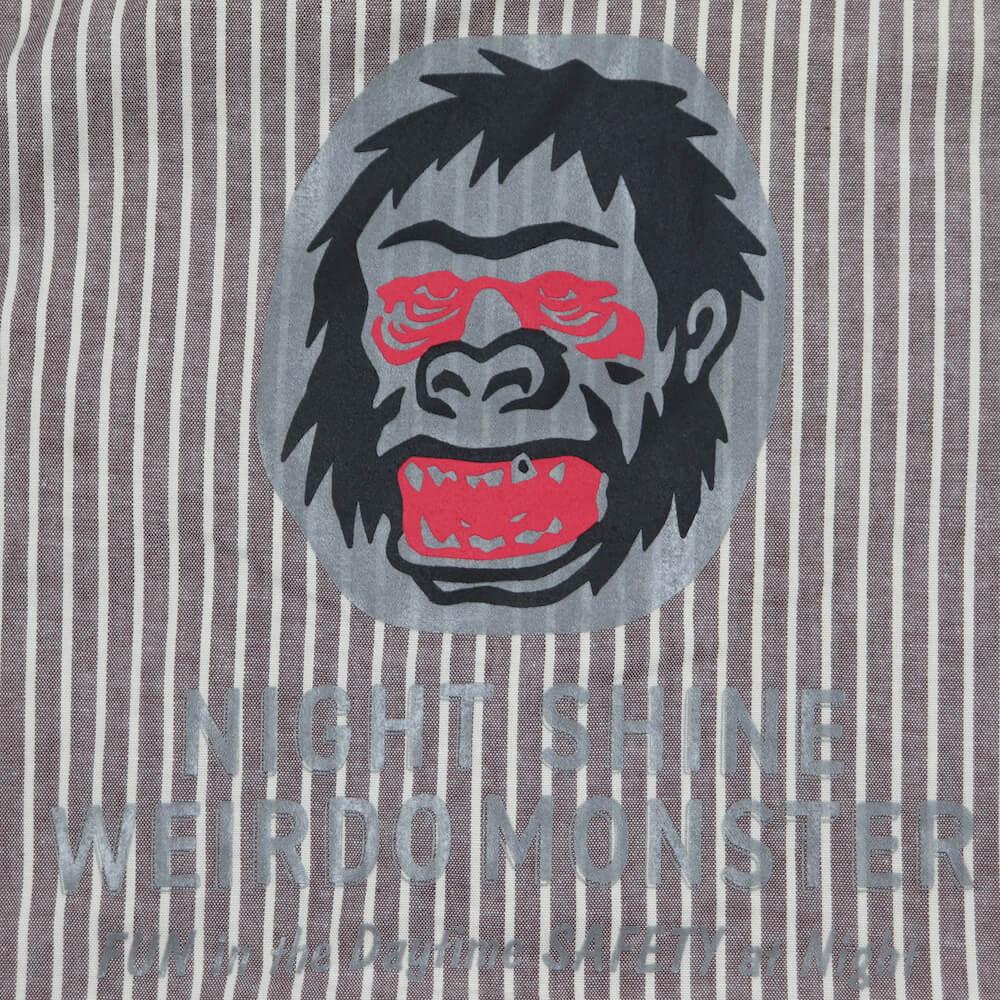 ウィアード ダンガリーストライプオープンカラーシャツ 長袖 開襟シャツ メンズ WEIRDO NIGHT SHINE MONSTER - L/S SHIRTS GLADHAND グラッドハンド GANGSTERVILLE ギャングスタービル OLD CROW オールドクロウ