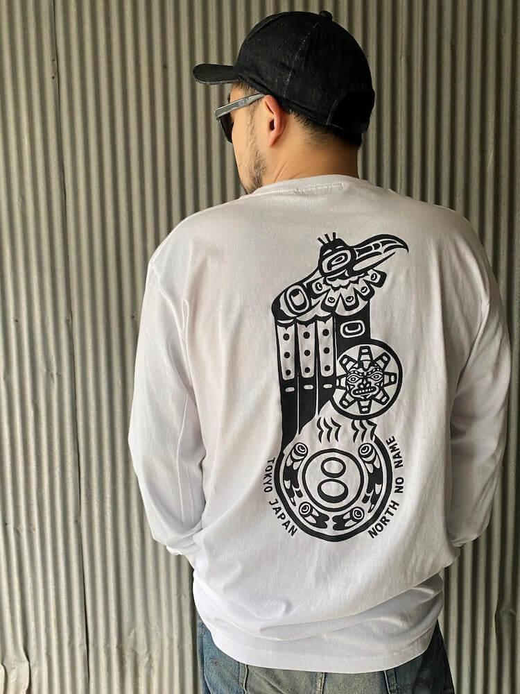 """ノースノーネーム Tシャツ ロンT 長袖 メンズ (ホワイト) NORTH NO NAME """"VULTURE"""" L/S TEE (WHITE)"""