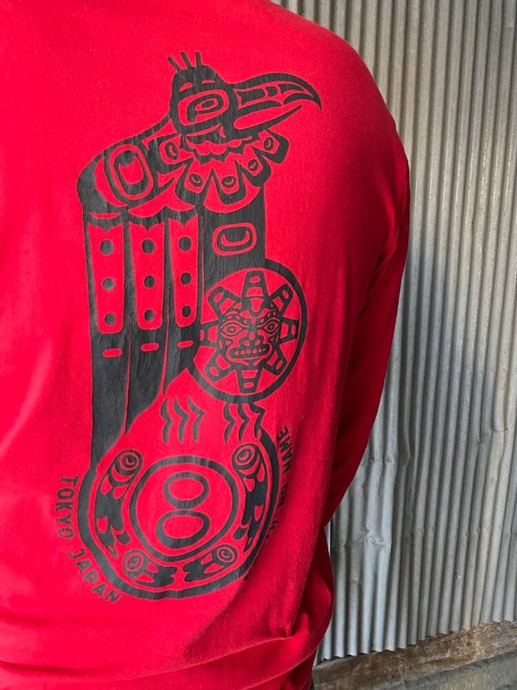 """ノースノーネーム Tシャツ ロンT 長袖 メンズ (レッド) NORTH NO NAME """"VULTURE"""" L/S TEE (RED)"""