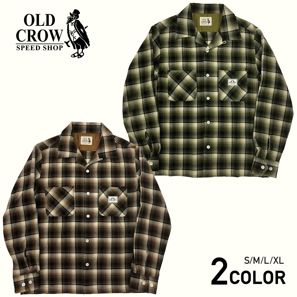 OLD CROW CROW CHECK - L/S SHIRTS