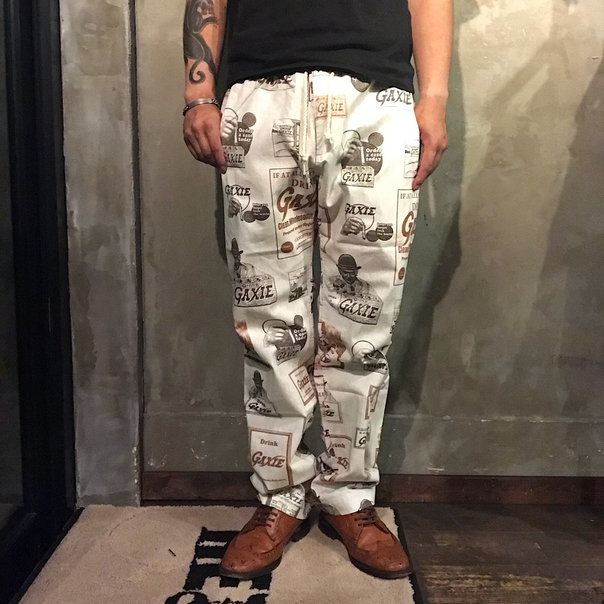GANGSTERVILLE GAXIE - EASY PANTS (IVORY)