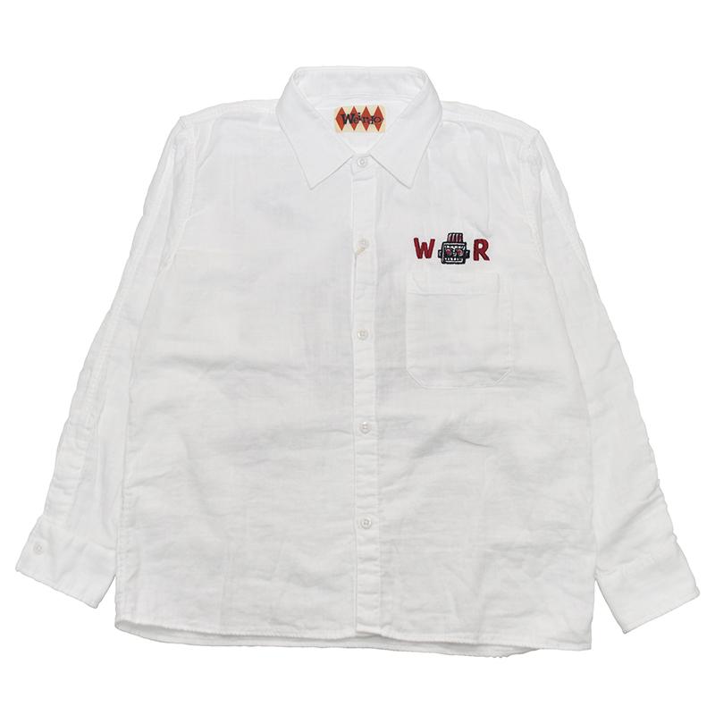 セール 40% OFF SALE WEIRDO S ROBOT - L/S SHIRTS (WHITE)