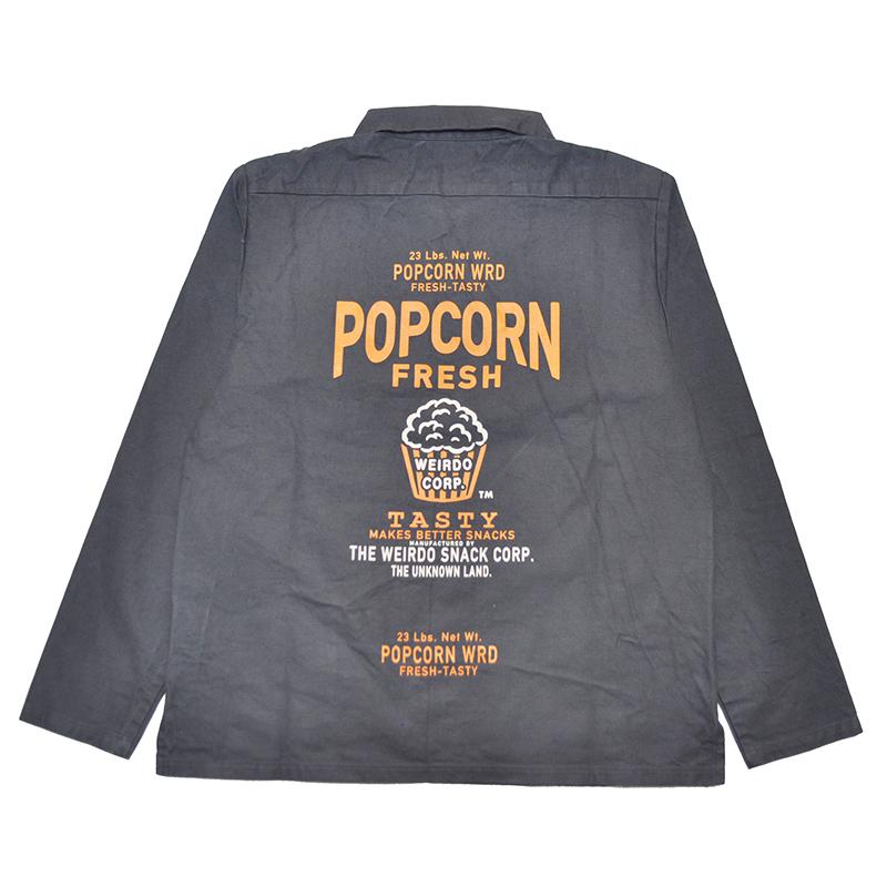 セール 40% OFF SALE WEIRDO POPCORN - L/S PULLOVER SHIRTS (BLACK)