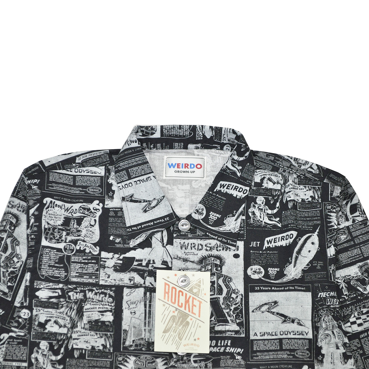 セール 40% OFF SALE WEIRDO SPACE PAPER - L/S SHIRTS (BLACK)