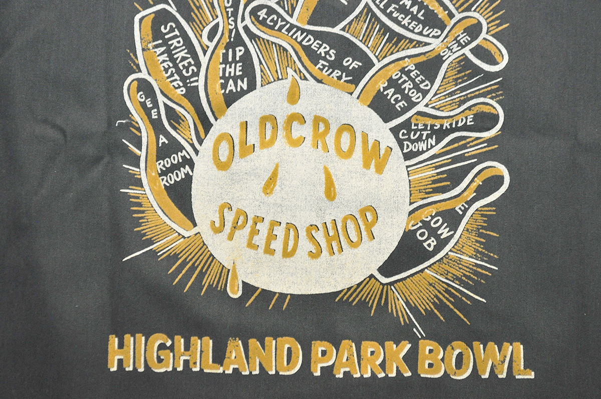 OLD CROW HIGHLAND PARK - S/S BOWLING SHIRTS (BLACK)