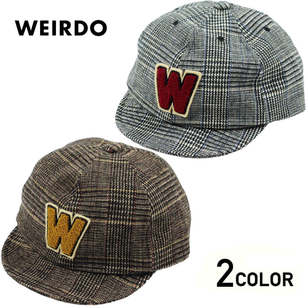 ウィアード チェック キャップ メンズ WEIRDO GROWN UP - CAP GLADHAND グラッドハンド GANGSTERVILLE ギャングスタービル OLD CROW オールドクロウ
