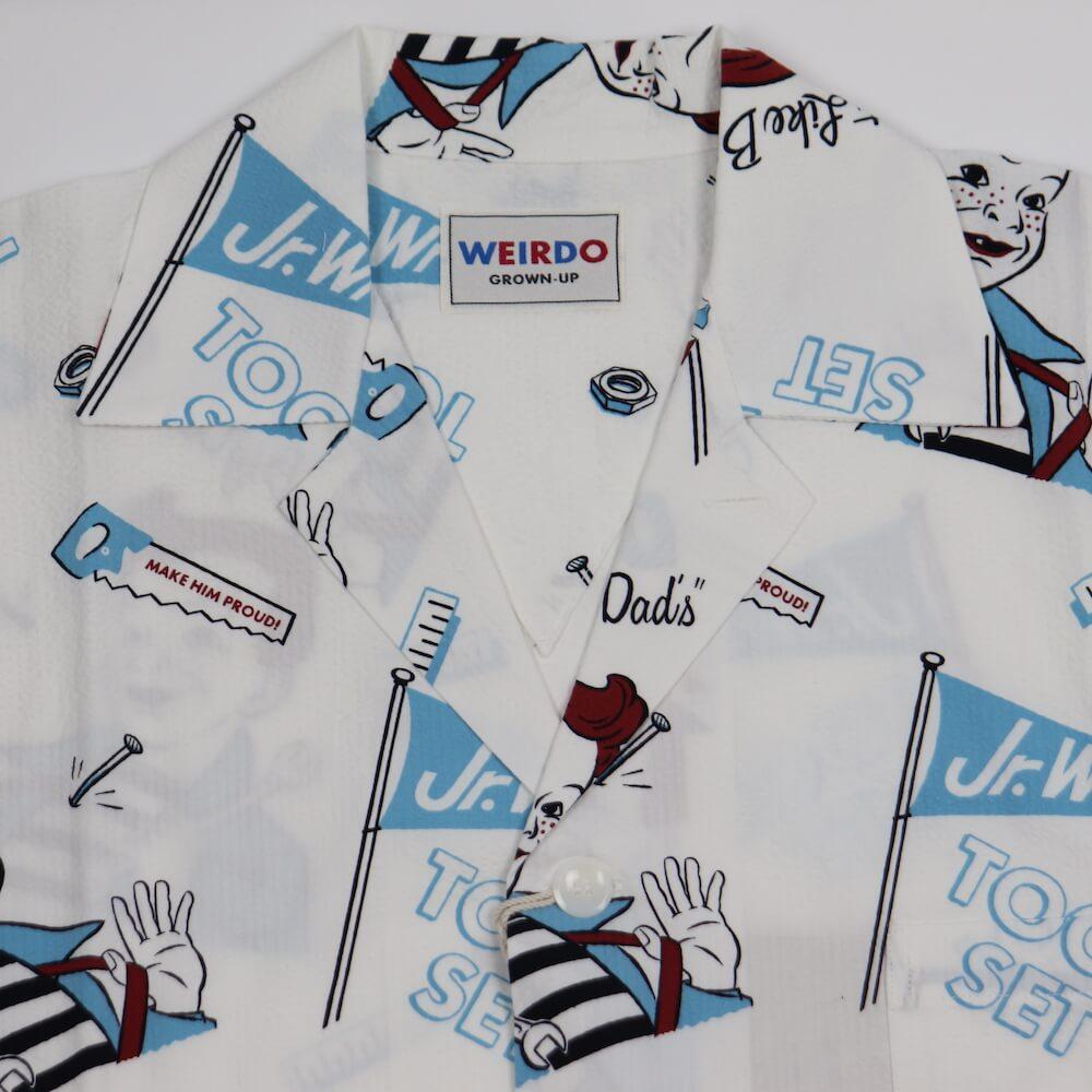 ウィアード 総柄オープンカラーシャツ 長袖 開襟シャツ メンズ WEIRDO Jr.WRD - L/S PAJAMAS SHIRTS GLADHAND グラッドハンド GANGSTERVILLE ギャングスタービル OLD CROW オールドクロウ