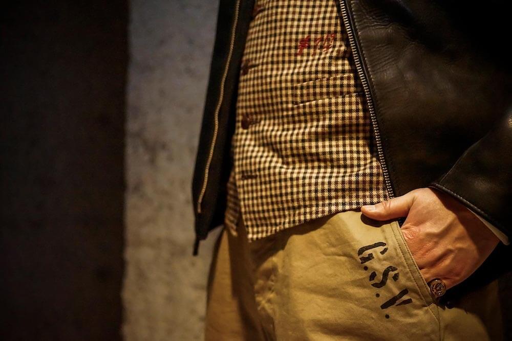 ギャングスタービル トラウザーズ パンツ メンズ GANGSTERVILLE G.DILLINGER - 45 TROUSERS GLADHAND グラッドハンド WEIRDO ウィアード OLD CROW オールドクロウ