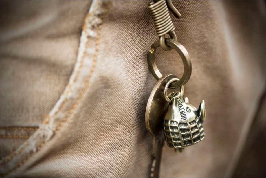 ピーナッツカンパニー ピーナッツアンドコー ポークチョップ ガレージサプライ ガーディアンベル PEANUTS & CO. PORKCHOP GARAGE SUPPLY P's Guardian Bell (BRASS)