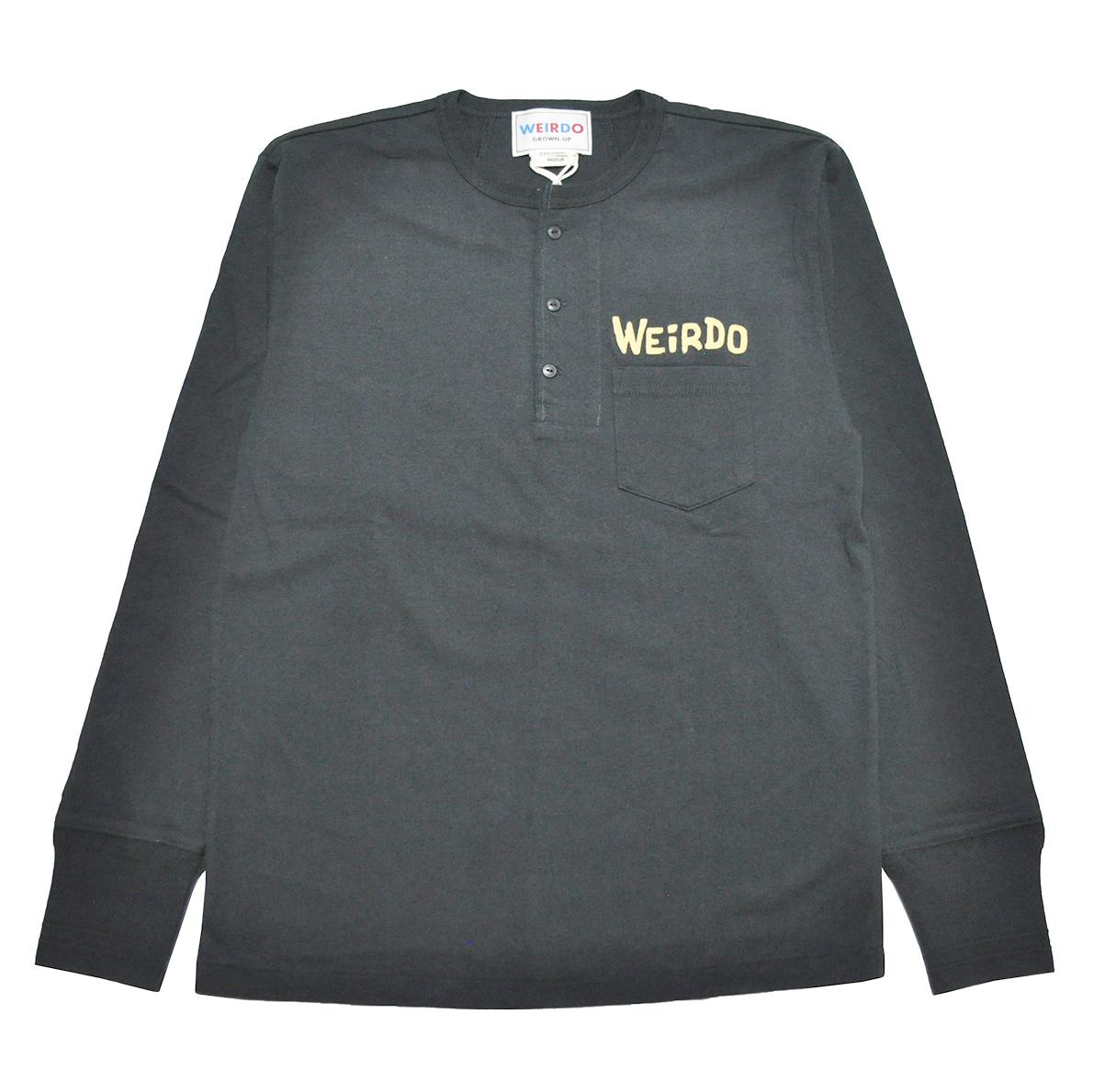 セール 40% OFF SALE WEIRDO MONSTERS - L/S HENRY POCKET T-SHIRTS (BLACK × YELLOW)