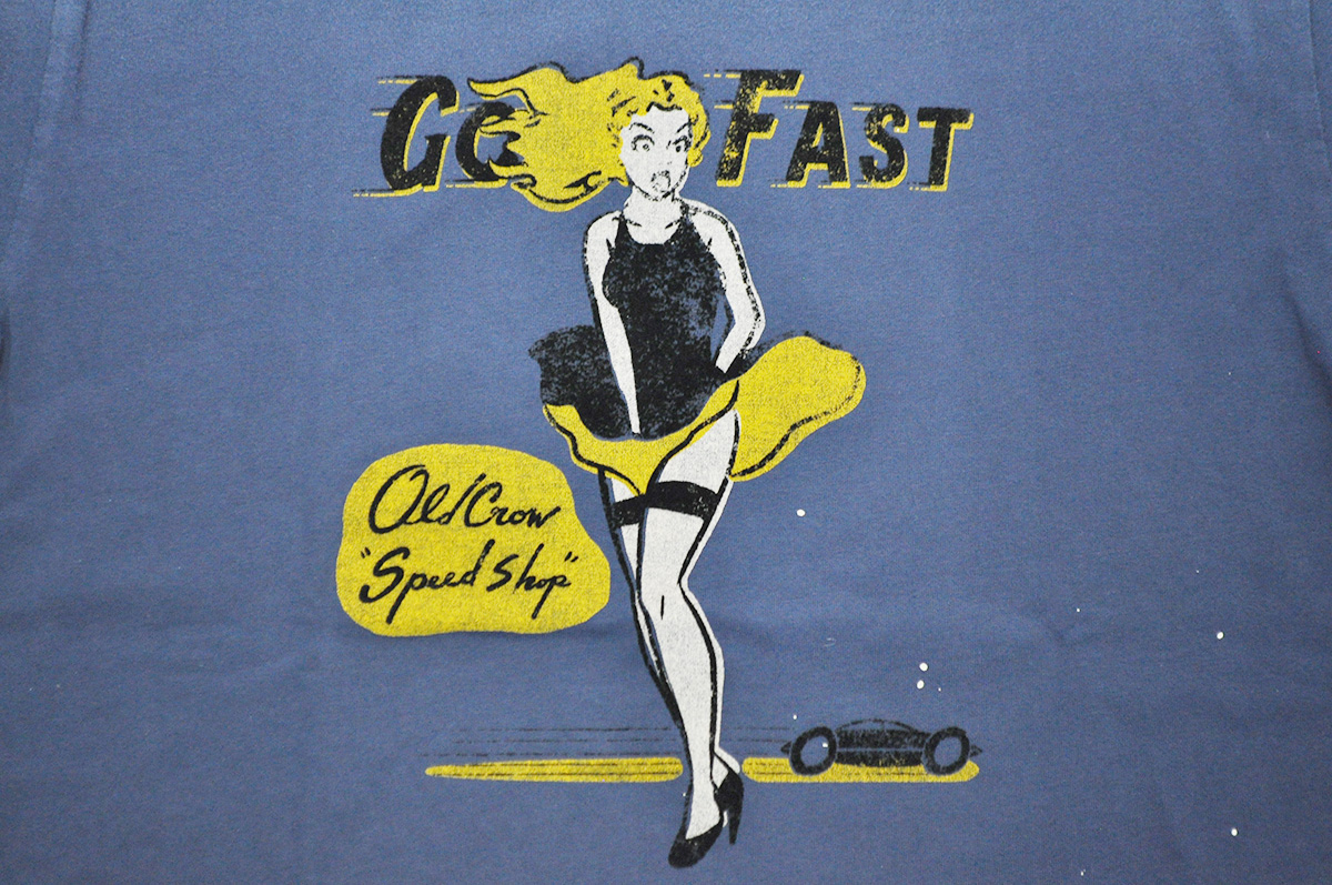 OLD CROW GO FAST - S/S T-SHIRTS  (NAVY)
