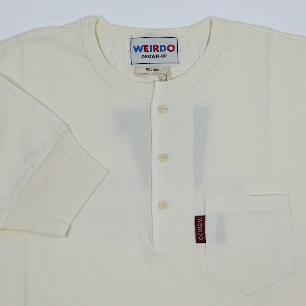 ウィアード Tシャツ ヘンリーネック 半袖 メンズ WEIRDO TOOL COMPANY - S/S HENRY T-SHIRTS GLADHAND グラッドハンド GANGSTERVILLE ギャングスタービル OLD CROW オールドクロウ