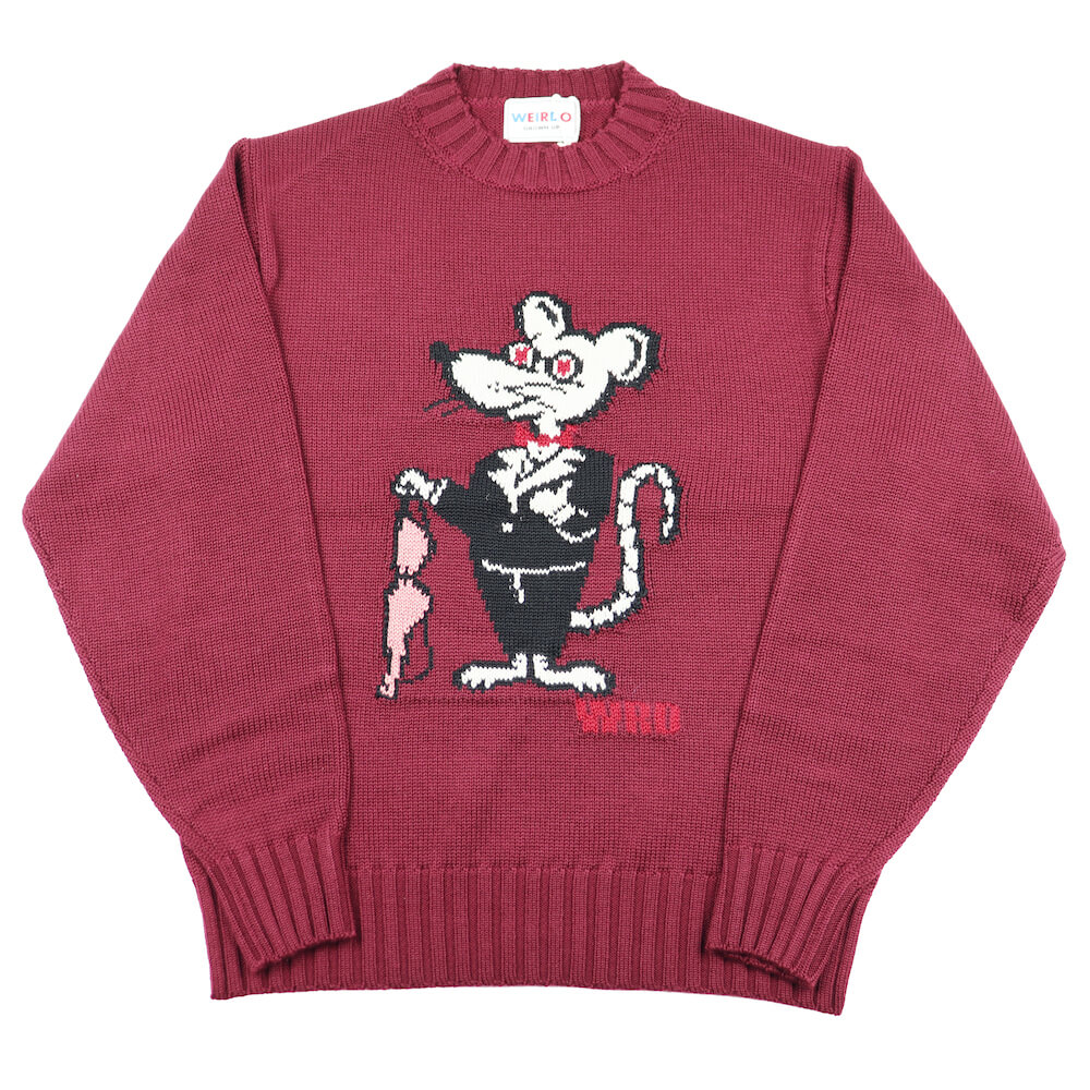 ウィアード ニット セーター 長袖 メンズ WEIRDO CLASSIC RAT - CREW NECK SWEATER GLADHAND グラッドハンド GANGSTERVILLE ギャングスタービル OLD CROW オールドクロウ