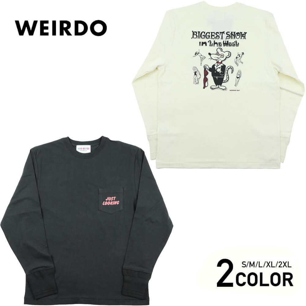 ウィアード クルーネック ポケット 長袖 Tシャツ ロンT メンズ WEIRDO CLASSIC RAT - L/S T-SHIRTS GLADHAND グラッドハンド GANGSTERVILLE ギャングスタービル OLD CROW オールドクロウ