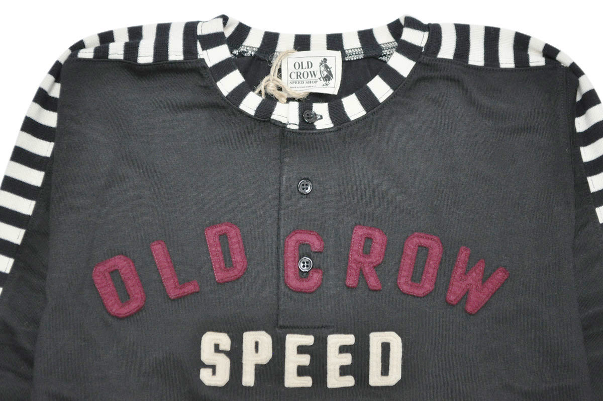 OLD CROW MOTORCYCLE - L/S T-SHIRTS (BLACK)