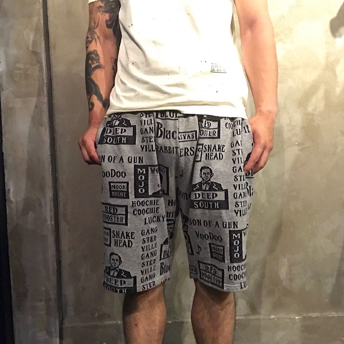 GANGSTERVILLE MOJO - SHORTS (GRAY)