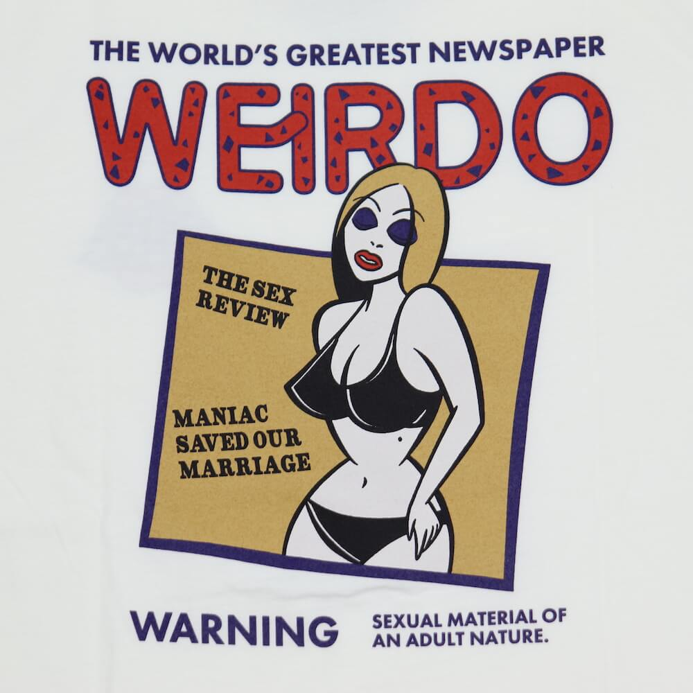 ウィアード Tシャツ クルーネック 半袖 メンズ WEIRDO PORN WEIRDO - S/S T-SHIRTS GLADHAND グラッドハンド GANGSTERVILLE ギャングスタービル OLD CROW オールドクロウ