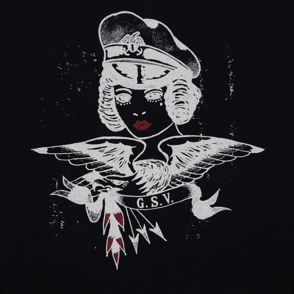 ギャングスタービル クルーネック 長袖 Tシャツ ロンT メンズ GANGSTERVILLE CAPT. BETTY - L/S T-SHIRTS GLADHAND グラッドハンド WEIRDO ウィアード OLD CROW オールドクロウ