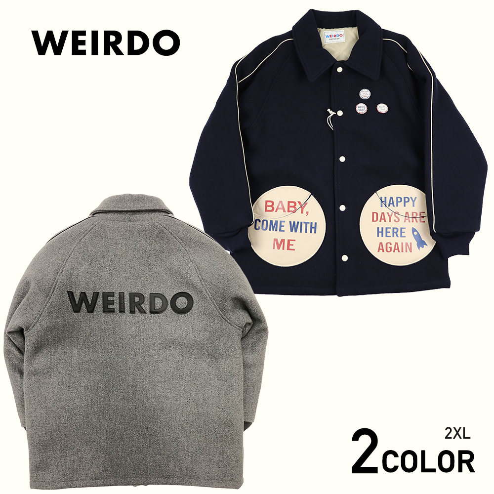 2XL:WEIRDO COMICAL PINBACK - JACKET