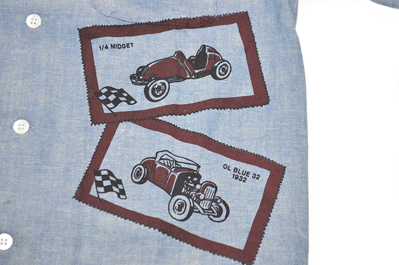 OLD CROW OLD LETTERS - L/S SHIRTS (INDIGO)