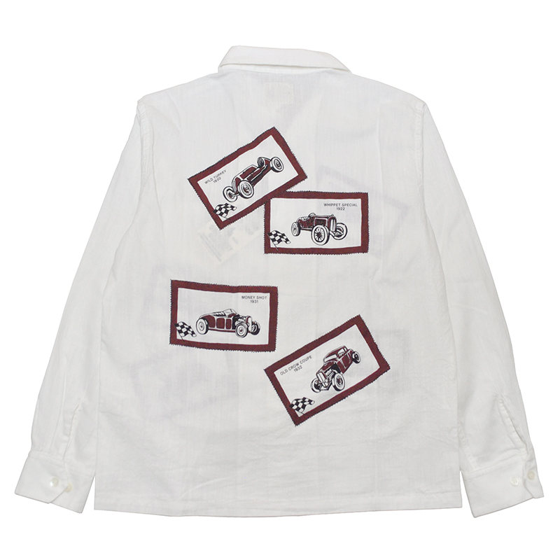 OLD CROW OLD LETTERS - L/S SHIRTS (WHITE)
