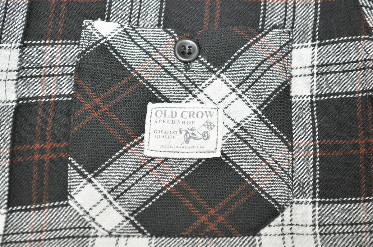 OLD CROW OLD CHECK - L/S SHIRTS (BLACK)