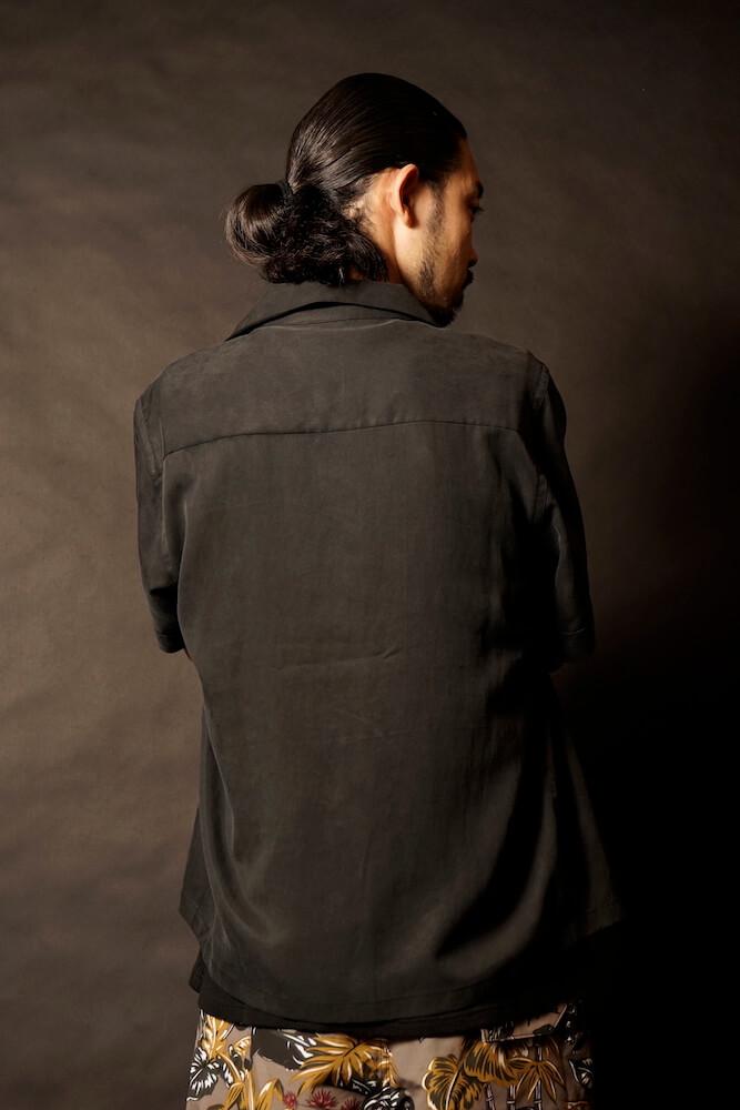 ギャングスタービル 半袖 オープンカラー シャツ メンズ 開襟シャツ GANGSTERVILLE JUNGLE PANTHER - S/S WORK SHIRTS GLADHAND グラッドハンド WEIRDO ウィアード OLD CROW オールドクロウ