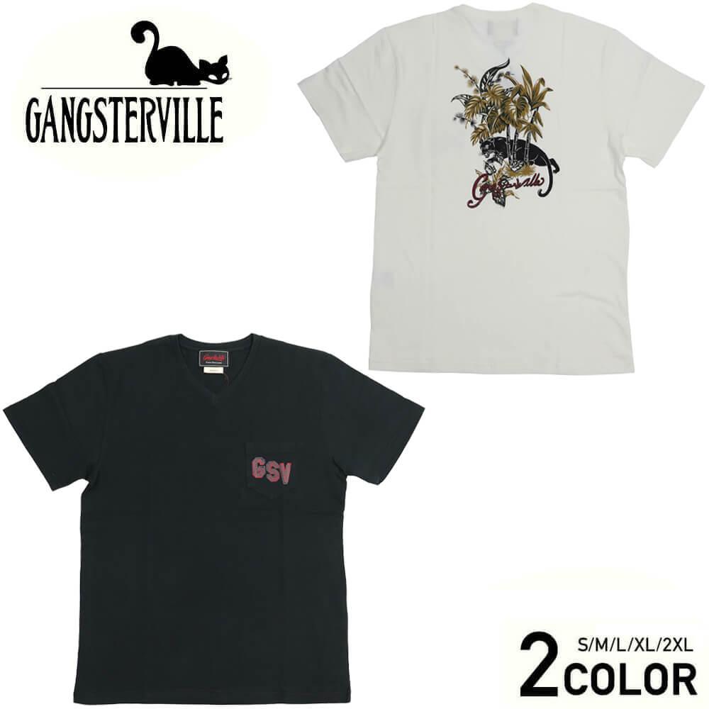 ギャングスタービル Vネック ポケット 半袖 Tシャツ メンズ GANGSTERVILLE JUNGLE PANTHER - S/S V-NECK T-SHIRTS GLADHAND グラッドハンド WEIRDO ウィアード OLD CROW オールドクロウ