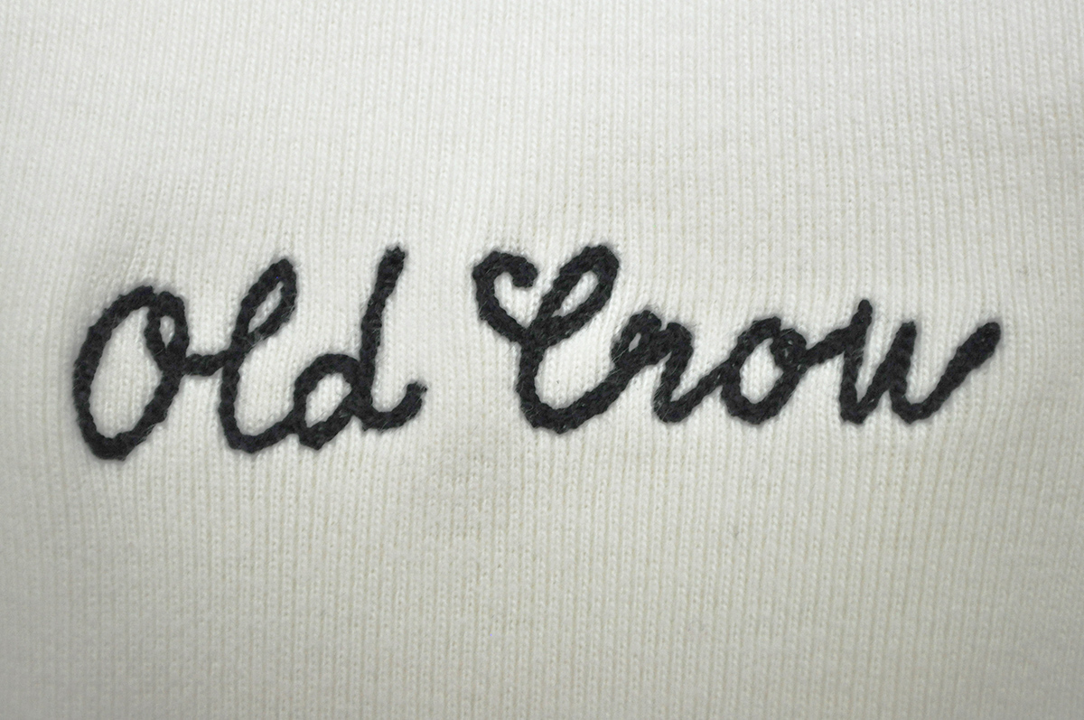 OLD CROW LUCKY LADY - THICK HENRY L/S T-SHIRTS (WHITE)