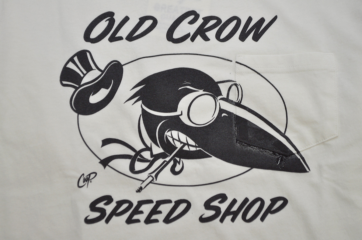 OLD CROW - L/S  T-SHIRTS (WHITE)