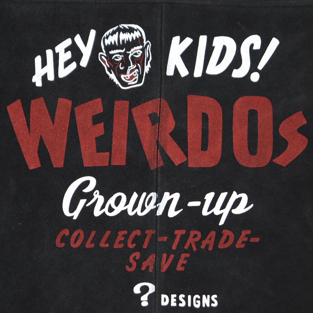 """ウィアード レザージャケット ランチジャケット メンズ WEIRDO HEY KIDS! - RANCH JACKET """"PRINT"""" GLADHAND グラッドハンド GANGSTERVILLE ギャングスタービル OLD CROW オールドクロウ"""