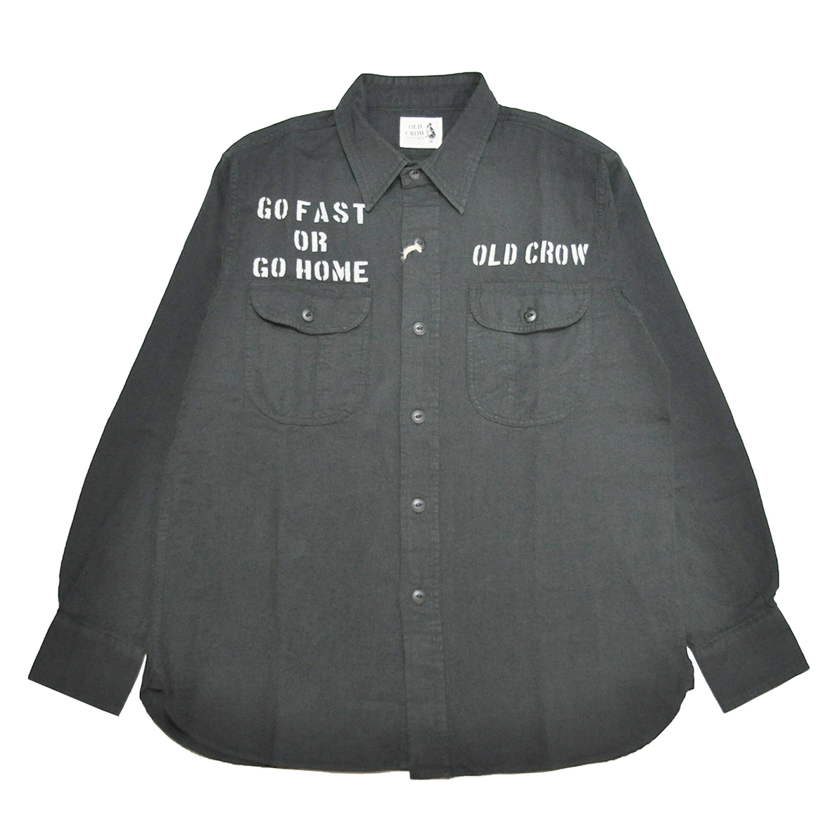 OLD CROW RODDER WORKER - L/S  SHIRTS (BLACK)
