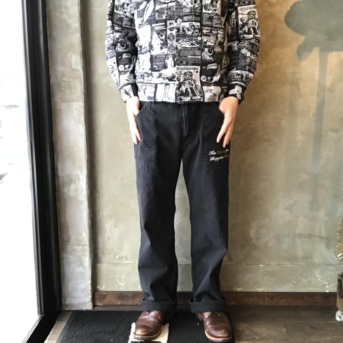 WEIRDO WOOVER - PANTS (BLACK)
