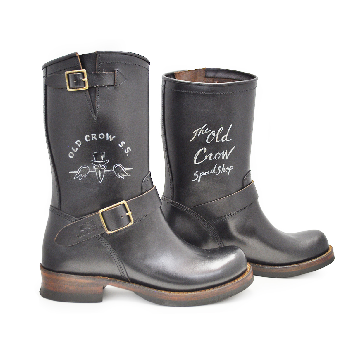 "OLD CROW OLDRIDE - BOOTS ""HAND PAINT"" (CROW/BLACK)"