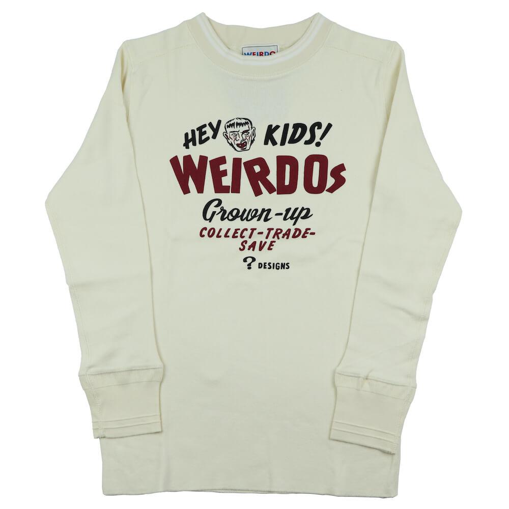 ウィアード クルーネック ポケット 長袖 Tシャツ ロンT メンズ WEIRDO HEY KIDS! - L/S T-SHIRTS GLADHAND グラッドハンド GANGSTERVILLE ギャングスタービル OLD CROW オールドクロウ