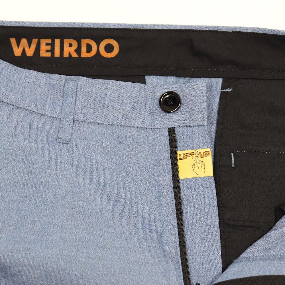 ウィアード リフトアップ スラックス メンズ 杢シャンブレー WEIRDO × LIFT UP  W & L UP - SLACKS 21ss GLADHAND グラッドハンド GANGSTERVILLE ギャングスタービル OLD CROW オールドクロウ