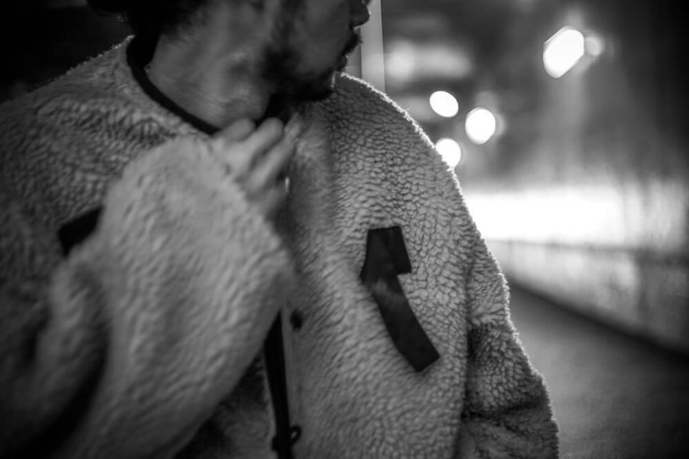 ギャングスタービル リバーシブル パイルコート メンズ GANGSTERVILLE RISE ABOVE - PILE COAT GLADHAND グラッドハンド WEIRDO ウィアード OLD CROW オールドクロウ