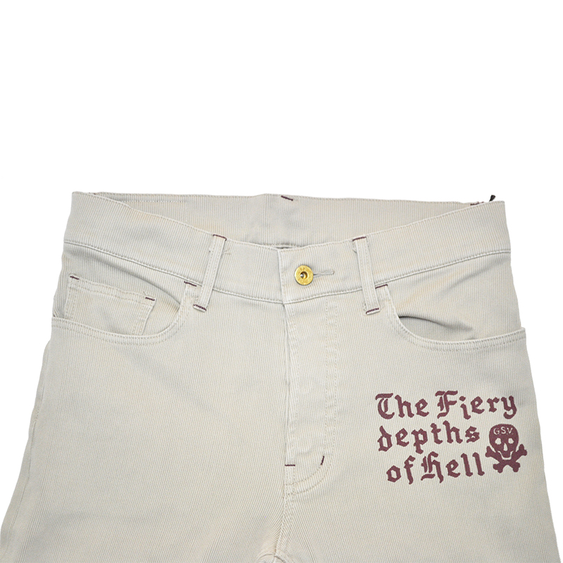 GANGSTERVILLE GENUINE SKULL - PANTS (BEIGE)