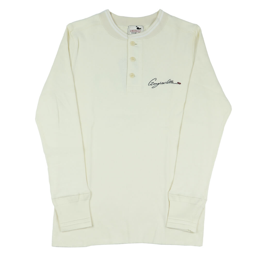 ギャングスタービル ヘンリーネック ティック 長袖 Tシャツ ロンT メンズ GANGSTERVILLE MAN'S RUIN - L/S T-SHIRTS GLADHAND グラッドハンド WEIRDO ウィアード OLD CROW オールドクロウ