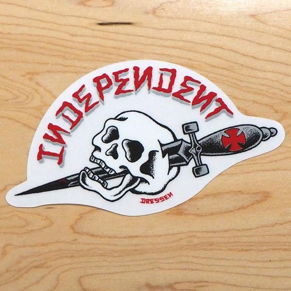 【ステッカー スケートボード インディペンデント】Independent Dressen Dagger 3.5in