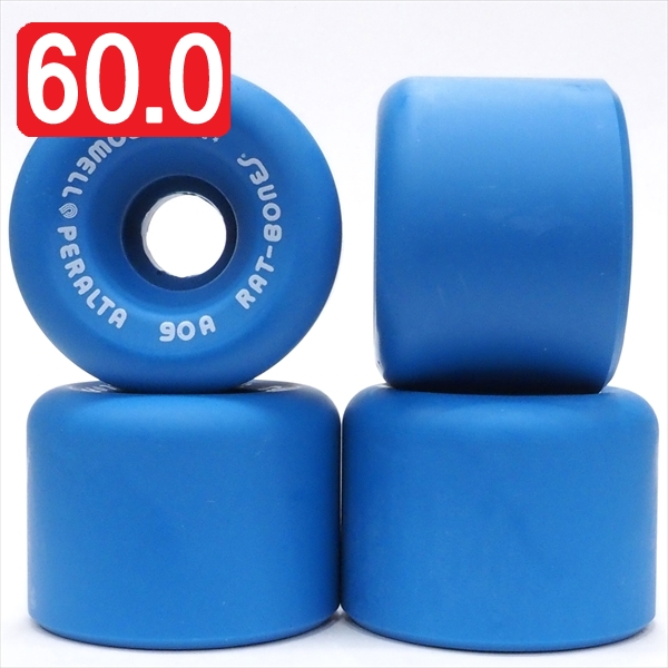 【60.0mm スケートボード ウィール パウエル】Powell Peralta Rat Bones 90A 60mm Blue