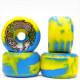 【65.0mm スケートボード ウィール スライムボール】Slimballs Big Ball Blue Yellow Swirl 97A 65mm