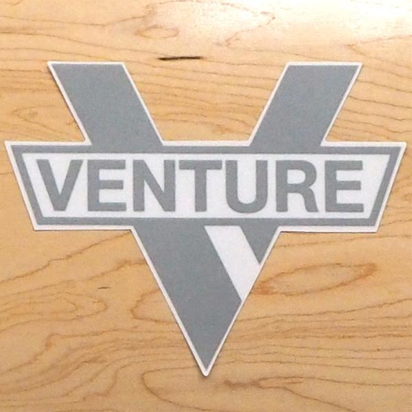 【ステッカー スケートボード ベンチャー】Venture Bar Diecut MD Silver