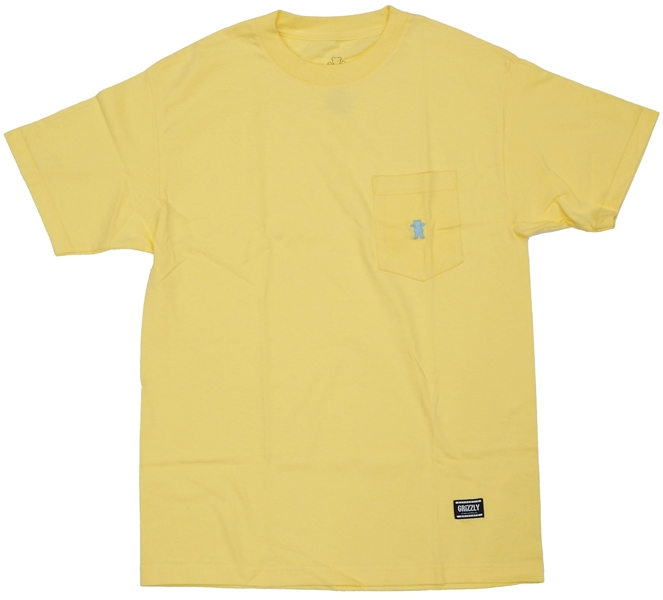 【Tシャツ スケートボード グリズリー】Grizzly OG Bear Embroidered Pocket Tee Banana