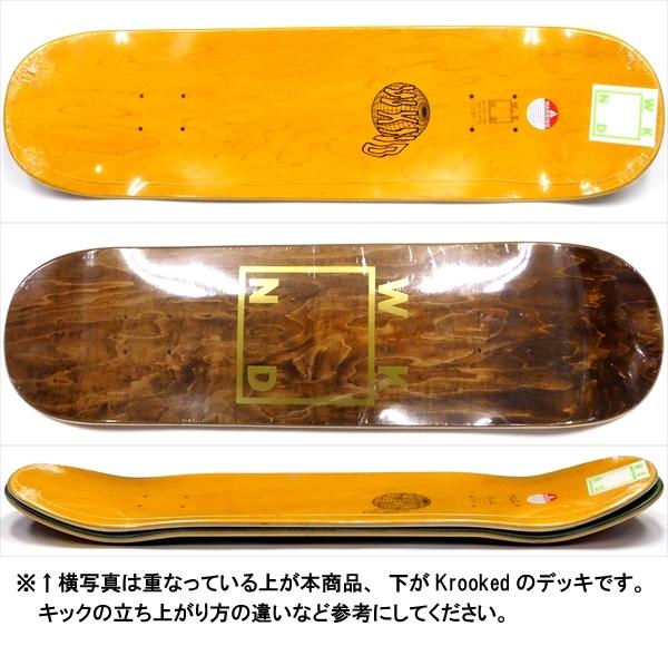 """【8.5"""" デッキ スケートボード ウィークエンド】WKND Gold Logo 8.5"""" Brown"""