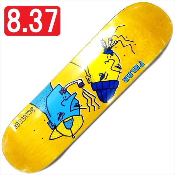 """【8.375"""" デッキ スケートボード ポーラー】Polar Team Smoking Heads 8.375"""" Yellow"""