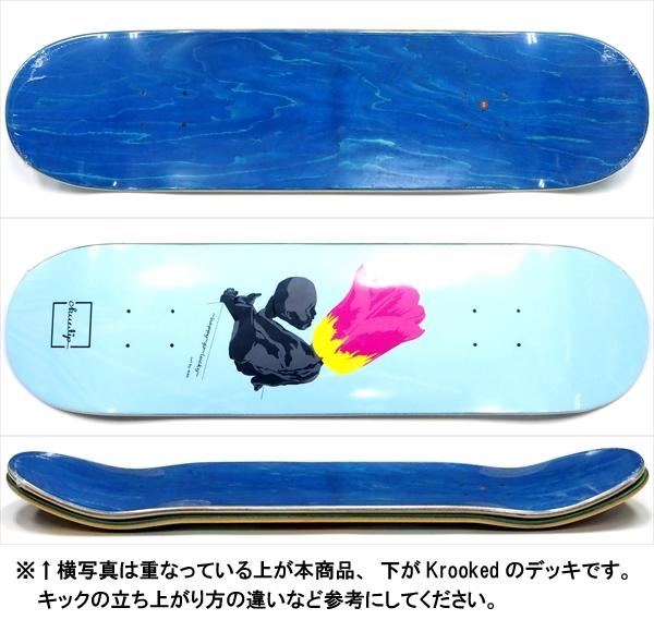 """【8.25"""" デッキ スケートボード チューリップ】Chuulip Flower Head LtBlue 8.25"""""""