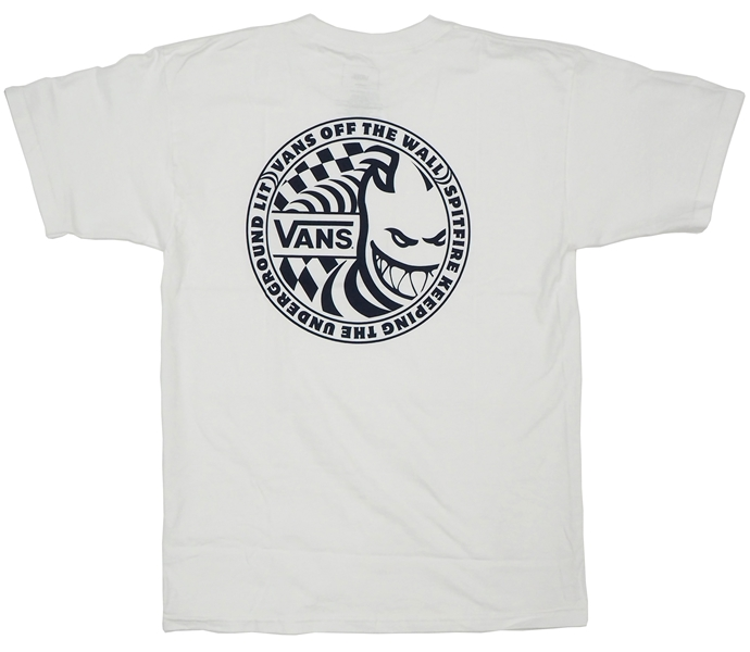 【Tシャツ スケートボード ヴァンズ】Vans x Spitfire White