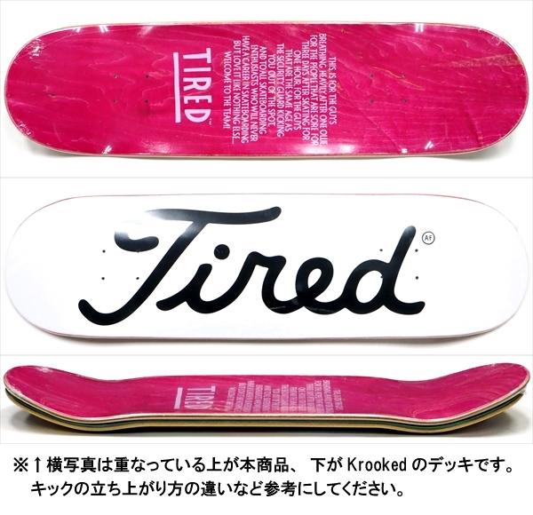 """【8.75"""" デッキ スケートボード タイレッド】Tired Golf Logo Regular 8.75"""""""