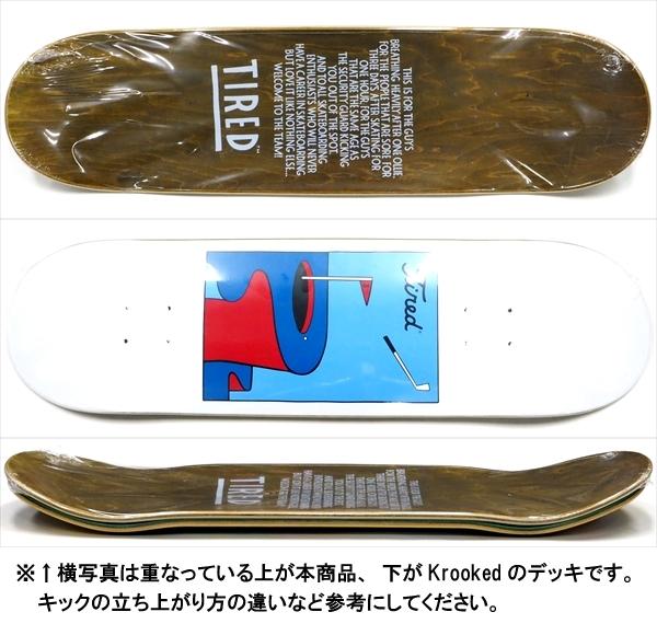 """【8.75"""" デッキ スケートボード タイレッド】Tired Golf Regular 8.75"""""""